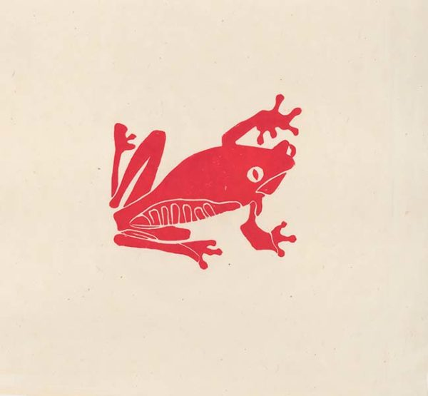 frog-lino cut -artists proof